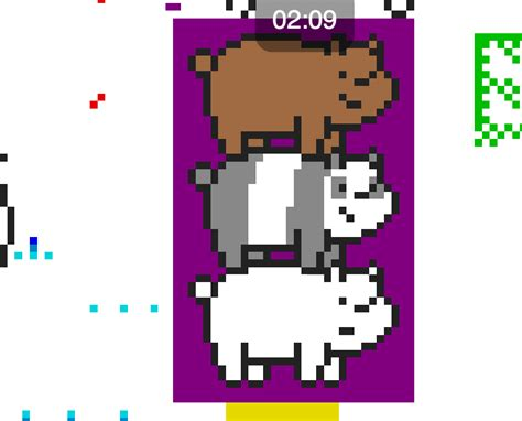 We Did It! We Bare Bears Pixel Art. Thank You So Much Guys