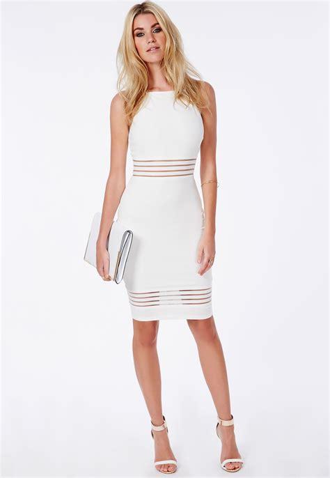 white dresses strappy mesh detail midi dress white dresses midi