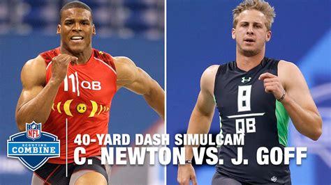 cam newton  jared goff  yard dash simulcam race