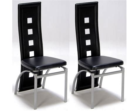 chaise de salon design lot de 2 chaises design noir meubles de salon