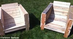 Palette Salon De Jardin : bricolage creer du mobilier de jardin avec des palettes en bois shunrize ~ Nature-et-papiers.com Idées de Décoration