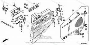 Honda Side By Side 2018 Oem Parts Diagram For Rear Door