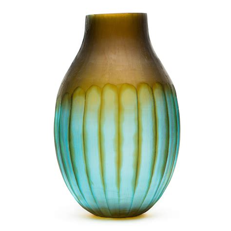 Carved Vase by Carved Glass Vase Large Gump S