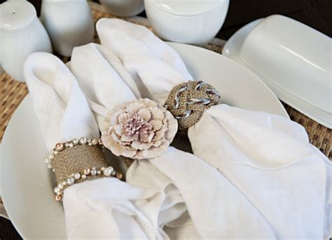 wedding napkin rings diy how to burlap napkin rings capitol practical local dc area weddings
