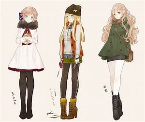 Anime fashion girls winter outfits | Anime Amino