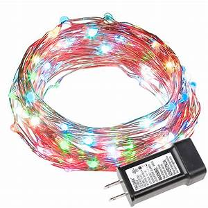 33ft Multi Colored Copper Wire String Lights Ul Listed