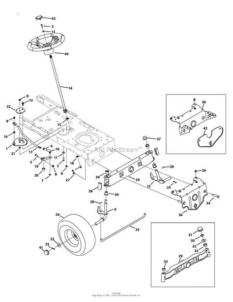 troy bilt pony deck belt diagram troy bilt 13an77kg011 pony 2009 parts diagram for steering