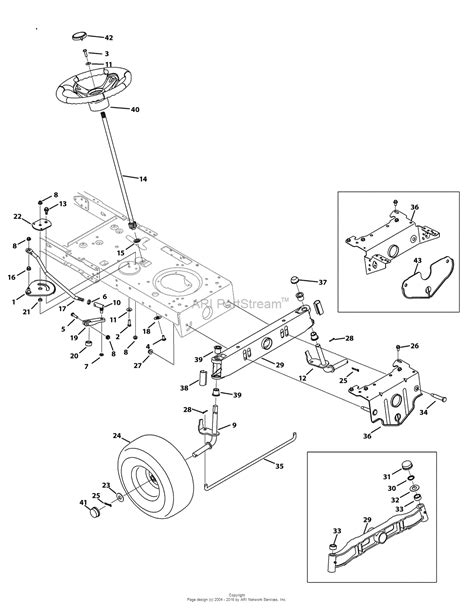 Troy Bilt Pony Deck Belt Diagram by Troy Bilt 13an77kg011 Pony 2009 Parts Diagram For Steering