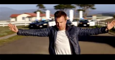 aaron paul in need for speed video new need for speed trailer features breaking bad s