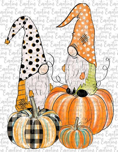 ♥welcome to babyartclipart shop!♥ it is not and cannot be made into an svg file for cricut or other personal cutting machines/vinyl this christmas gnomes vol.2 clipart set is just what you needed for the perfect invitations, craft. Fall Gnomes with Pumpkins clipart, instant download ...