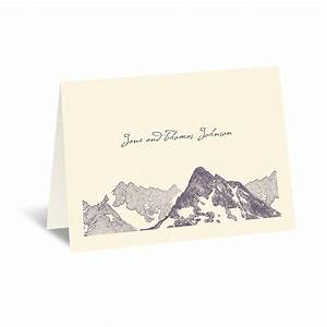 watercolor mountain thank you card invitations by dawn With wedding thank you cards invitations by dawn