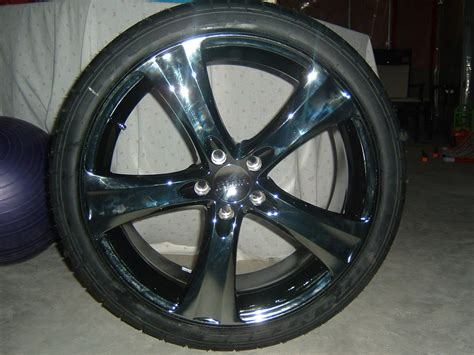 Anyone Have Black Chrome Rims On Their Ride?