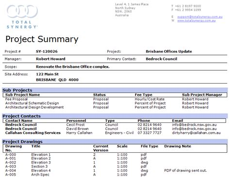 project documentation template table document template templates data