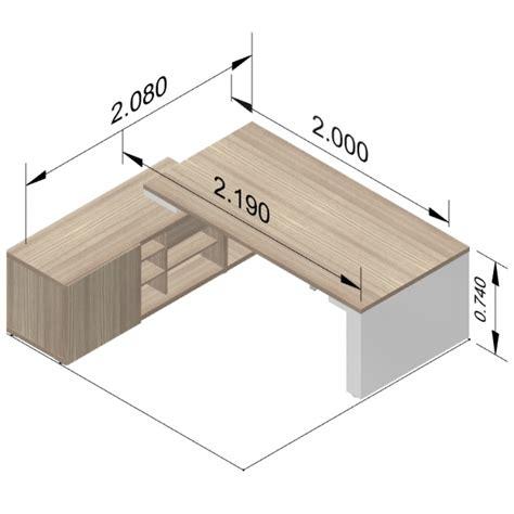 hauteur de bureau standard bureau direction mito réglable en hauteur avec armoire