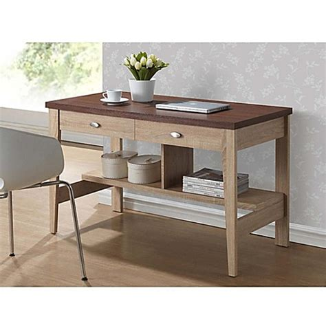 writing desk for bed baxton studio filmore writing desk in brown bed bath