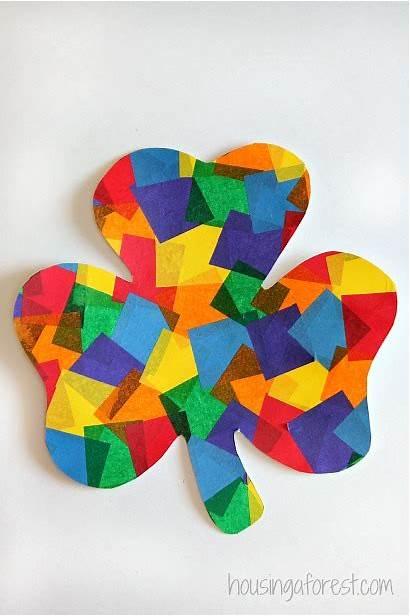 Craft Shamrock Rainbow Patrick Crafts St Patricks