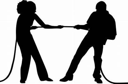 Conflict Silhouette Behavior Management Human Organizational Rope