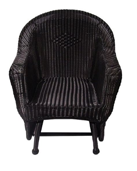 where to buy 36 black resin wicker single glider patio