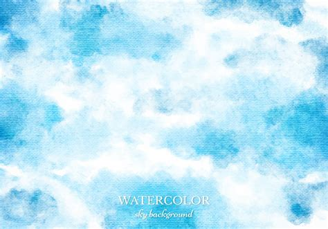 Vector Blue Watercolor Sky Background Download Free