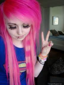 Cute Emo Girls with Pink Hair
