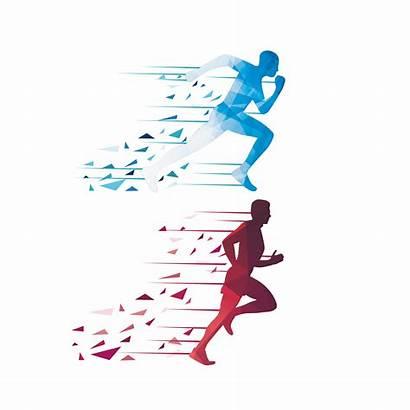 Running Vector Runner Icon Silhouette Clipart Euclidean