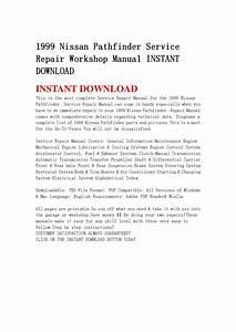 1999 Nissan Pathfinder Service Repair Workshop Manual