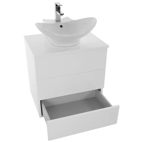 24 inch vanity with sink bathroom vanity iotti tn17 24 inch glossy white vessel