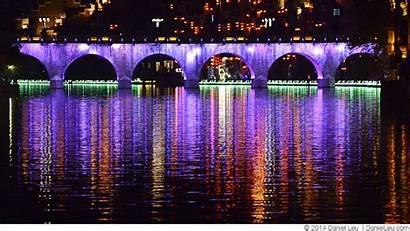 Animation Bridge River Zhenyuan Lights Xinda Wuyang
