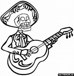 el dia de muerto coloring sheets | DIA De Los Muertos ...