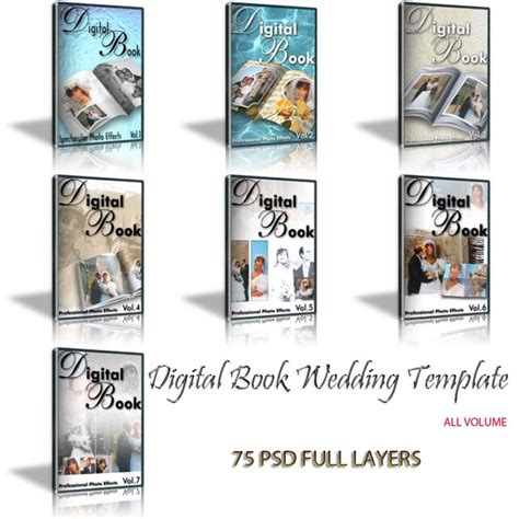 Creative Wedding Album Collection Psd Templates Volumes 1 12 by Digital Book Wedding Template Collection Volumes 1 To 7