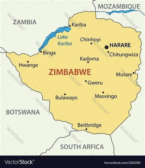 republic  zimbabwe map royalty  vector image