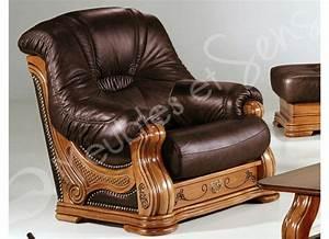 fauteuil salon bois massif With tapis champ de fleurs avec housse pour canapé d angle en cuir