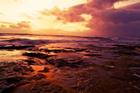 picture sunset dawn water dusk beach sea sun