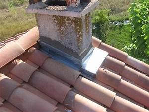 Tour De Cheminée : tour de chemin e en zinc photo de bricolage nouvelle toiture et construction de la chambre guit ~ Nature-et-papiers.com Idées de Décoration