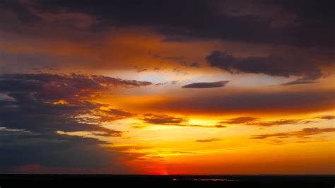 photo sunset sky clouds nature red