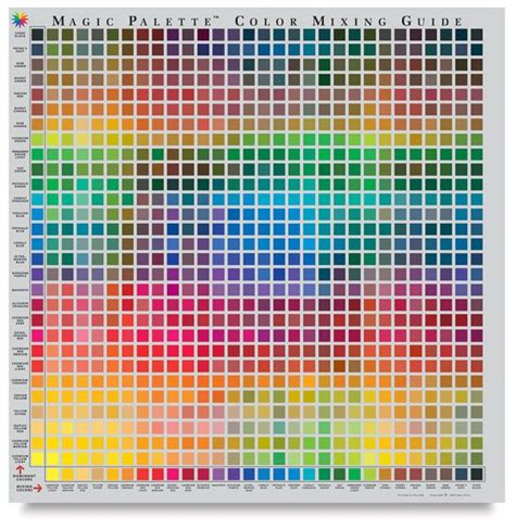 paint color mixing table color mixing chart quot magic quot color mixing chart brand you can buy one of these for your studio
