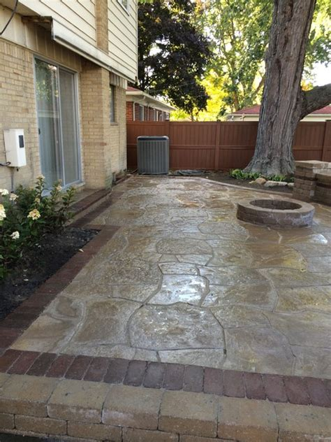 livonia raised flagstone patio traditional detroit
