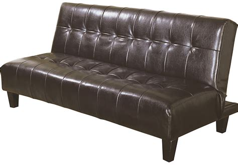 klik klak futon culver brown klik klak sofas brown