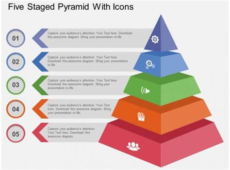 staged pyramid  icons flat powerpoint design