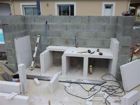 cuisine fabrication cuisine construire une cuisine en beton cellulaire