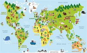 Cartoon World Map by 79dsigns GraphicRiver