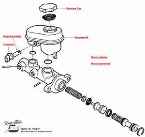 1998 Corvette Brake Master Cylinder Parts