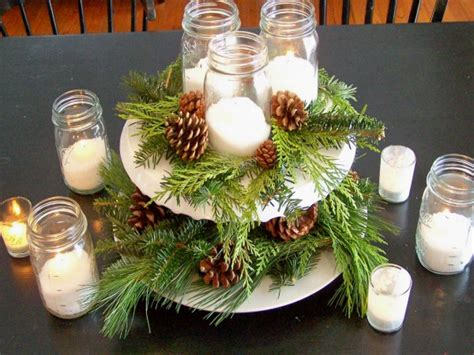 Easy Holiday Centerpieces, Mason Jar Christmas Centerpiece Modern File Cabinets Home Office Dining Room Ideas 2013 Rustic Bathroom Designs Cabinet Door Replacement Depot Kitchen Exterior Color Diy Bedroom Decorating Paint Colors For Homes With Brick