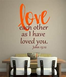 john 1512 bible scripture vinyl lettering wall art words With vinyl lettering wall art