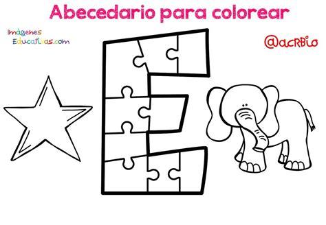 Abecedario para colorear (5) Imagenes Educativas