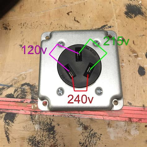 wiring 240v outlet with 120v and 215v how home