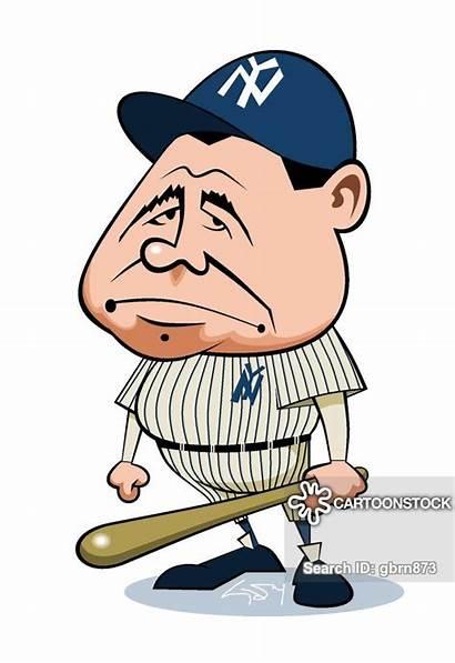 Ruth Babe Cartoon Cartoons Drawing Baseball Yankees