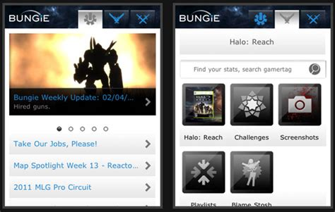 Bungie Mobile by The Importance Of Texture In Mobile Design