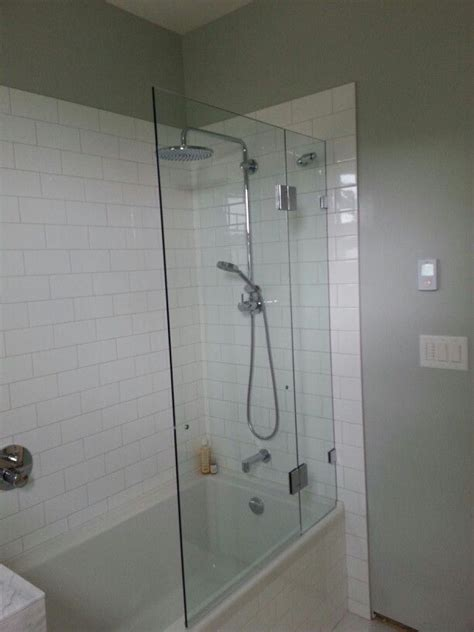 Glass Wall with Tub Shower Combo