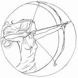 Coloring Bow Arrows Military sketch template